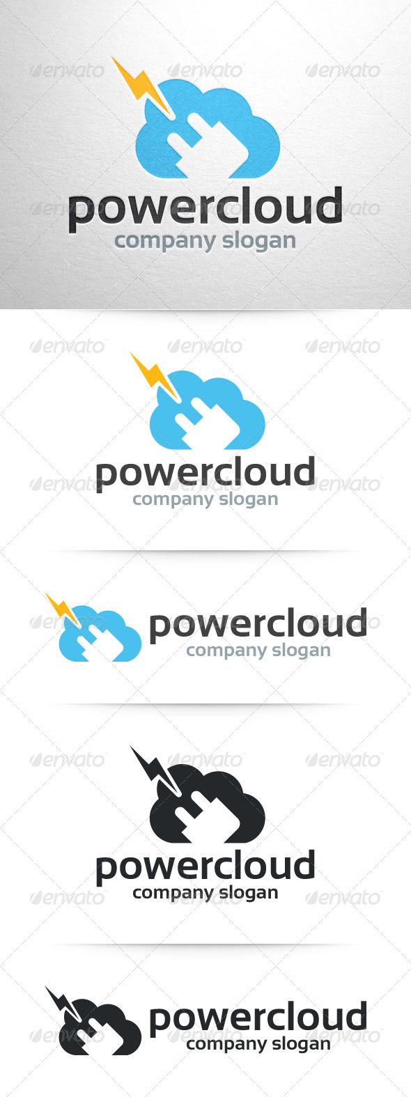 GraphicRiver Power Cloud Logo Template 7513806
