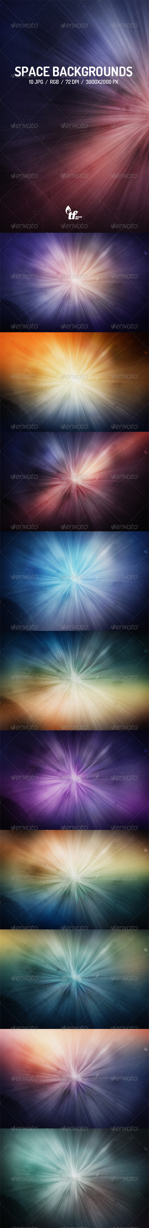 10 Space Light Backgrounds - Abstract Backgrounds
