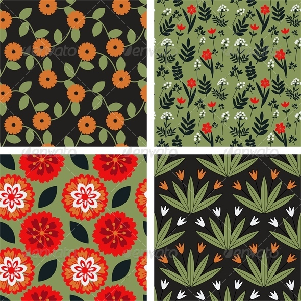 GraphicRiver Floral Patterns 7513877