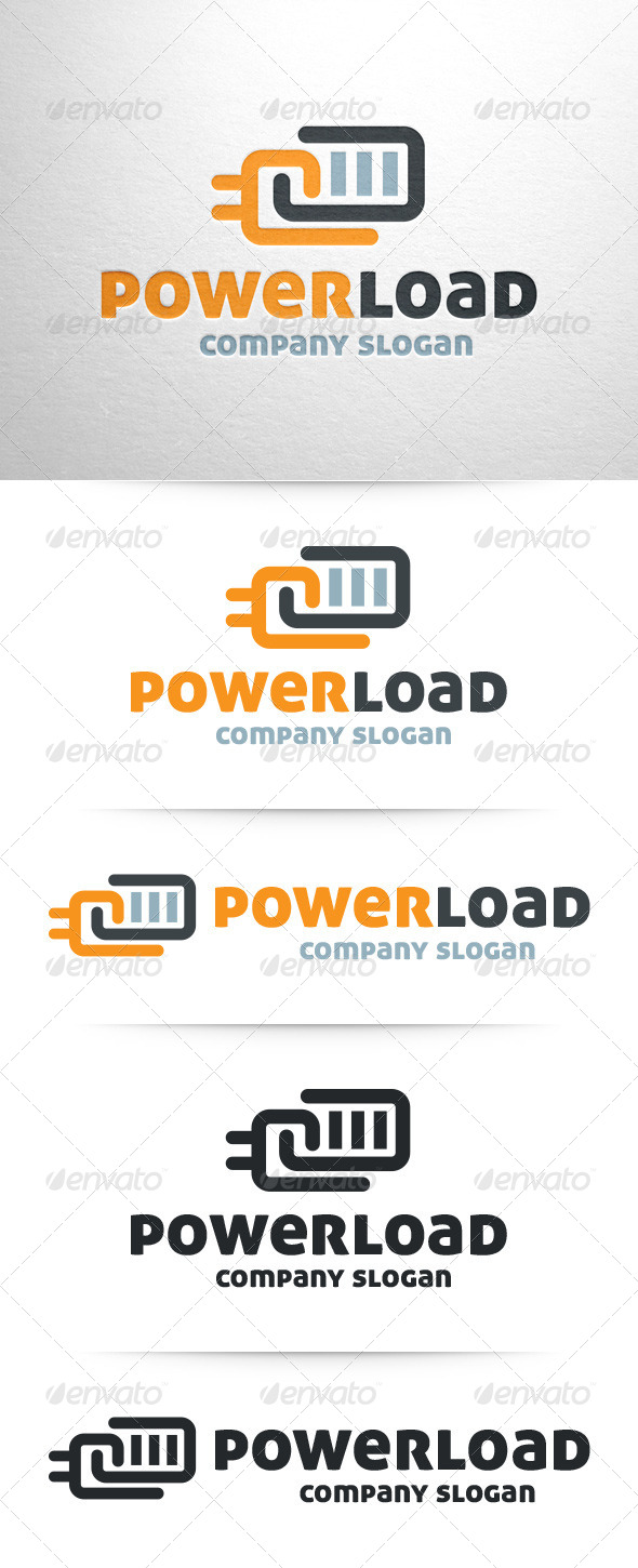 GraphicRiver Power Load Battery Logo 7513896