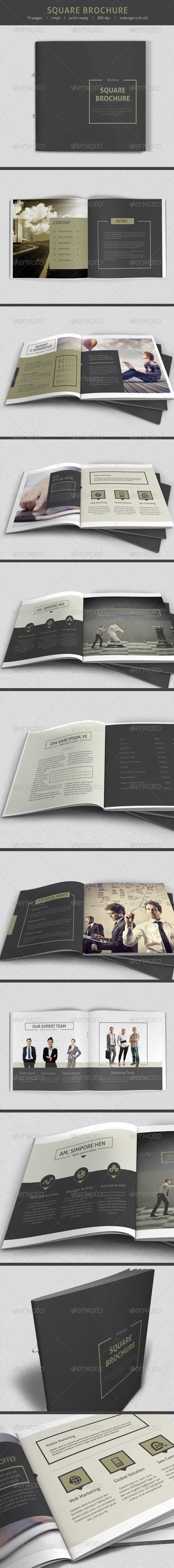 GraphicRiver Minimal Square Brochure 7514150