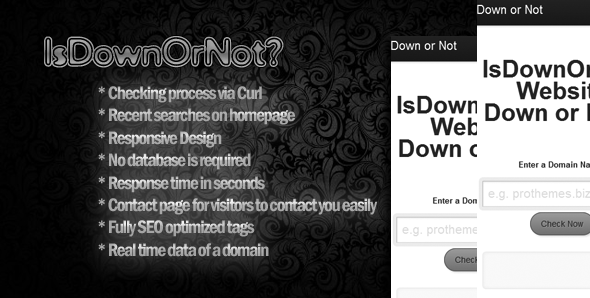 CodeCanyon IsDownOrNot Website Down or Not 7472143