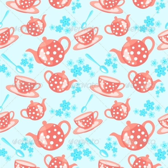 GraphicRiver Morning Tea Seamless Pattern 7514219