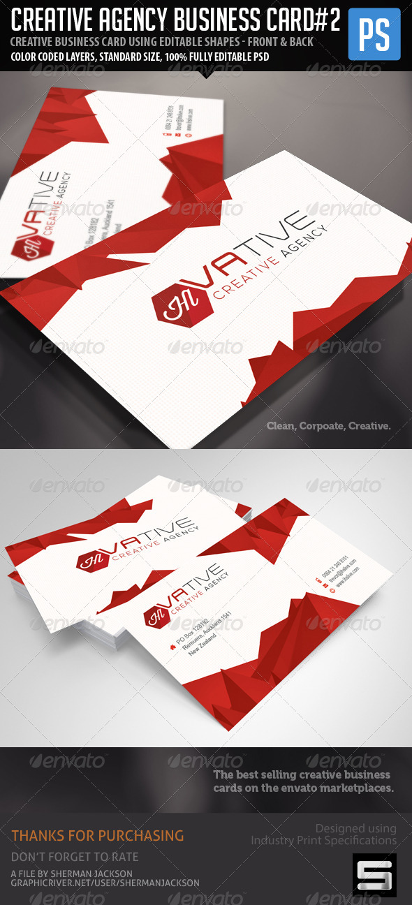 GraphicRiver Creative Corporate Agency Business Card Vol.2 7514226