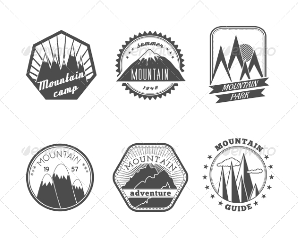 GraphicRiver Snowy Mountains Labels Collection 7514228