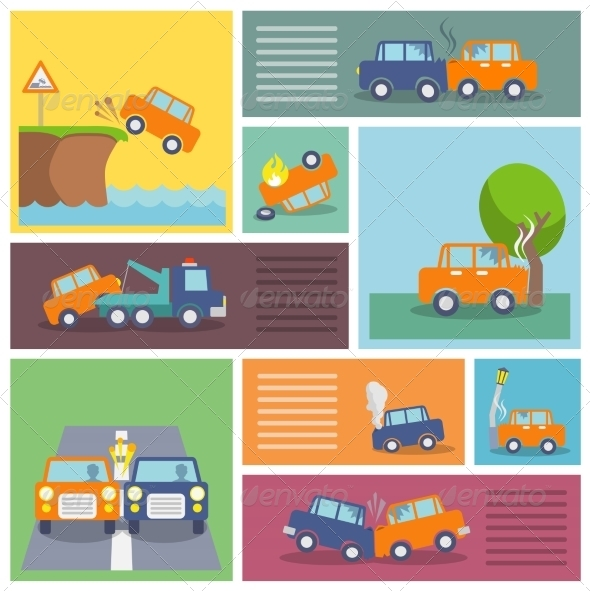 GraphicRiver Car Crash Icons 7514254