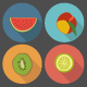 Flat Fruit Icon Set - GraphicRiver Item for Sale