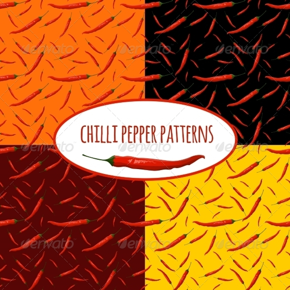 GraphicRiver Chili Pepper Pattern 7514287