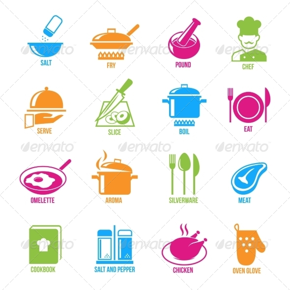 GraphicRiver Cooking Icons Set 7514289