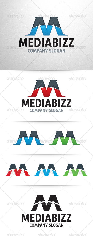 Media Bizz Letter M Logo