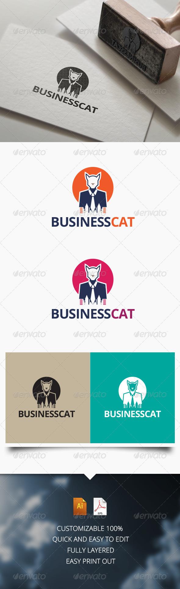 GraphicRiver Business Cat Logo 7514340