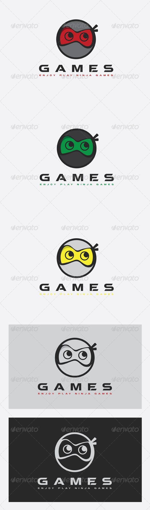 GraphicRiver Ninja Games Logo 7514391