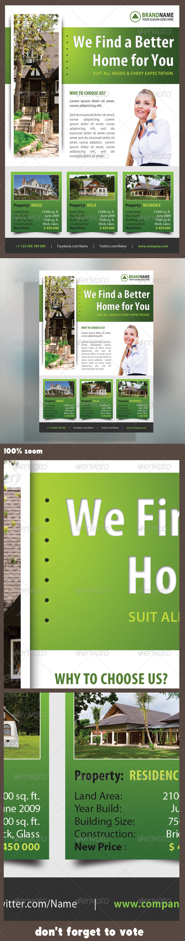 Real Estate Corporate Flyer 15 - Flyers Print Templates
