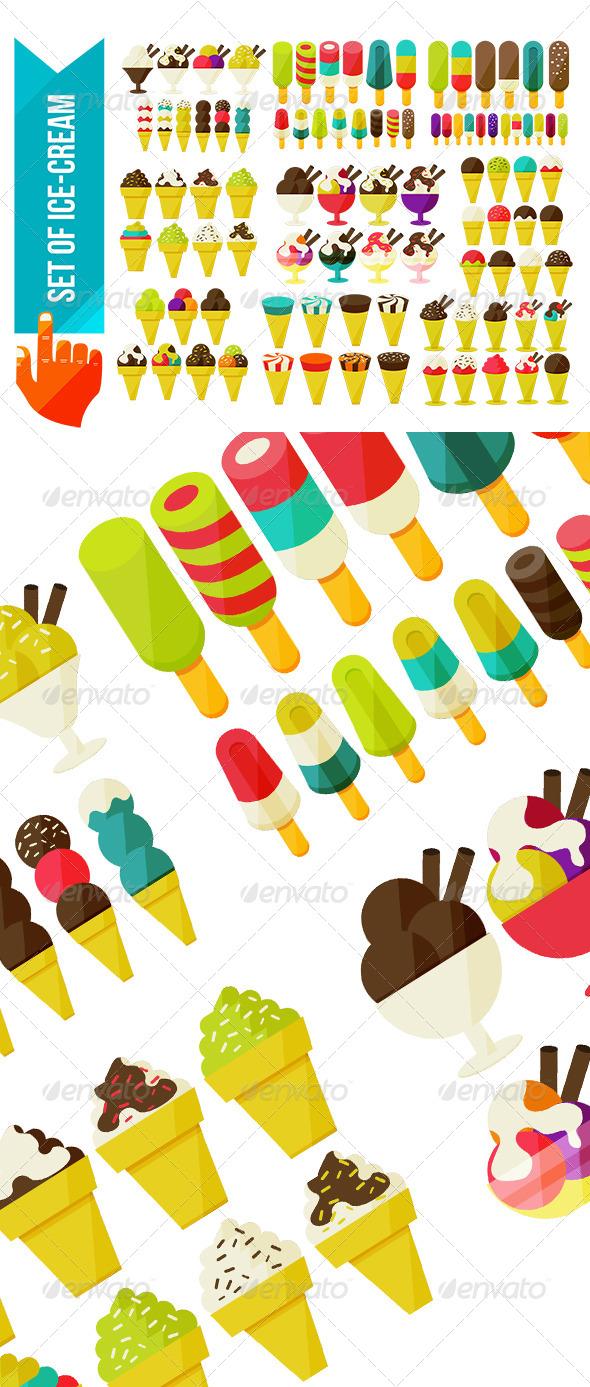 GraphicRiver Set of Ice Cream 7514460