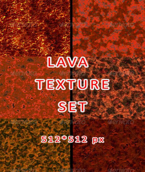 3DOcean Lava Texture Set 7514711