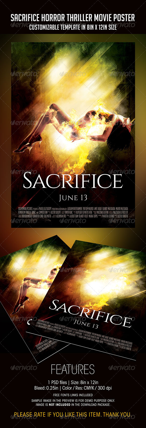 GraphicRiver Sacrifice Horror Thriller Movie Poster 7516216