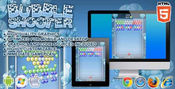 CodeCanyon Bubble Shooter HTML5 Games 7516226