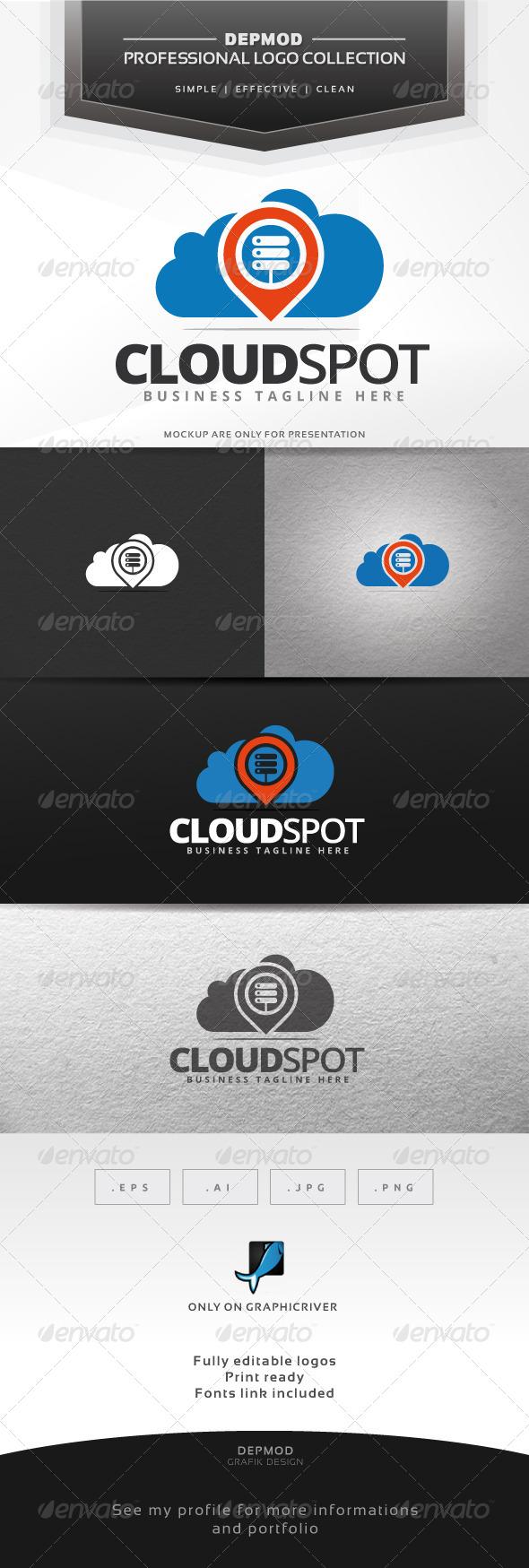 GraphicRiver Cloud Spot Logo 7516359
