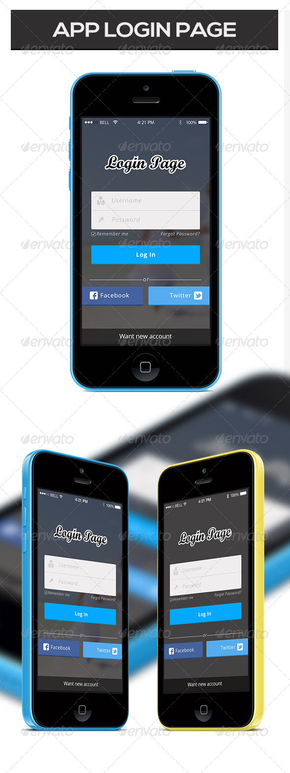 GraphicRiver App Login Page 7516469