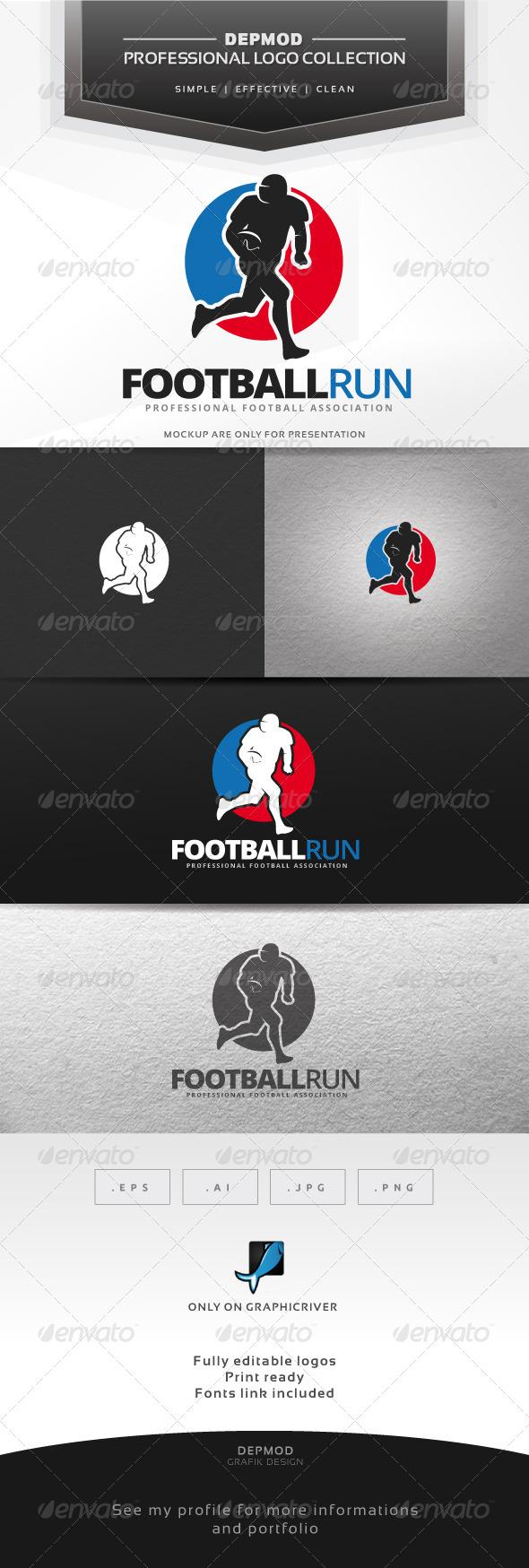 GraphicRiver Football Run Logo 7516546