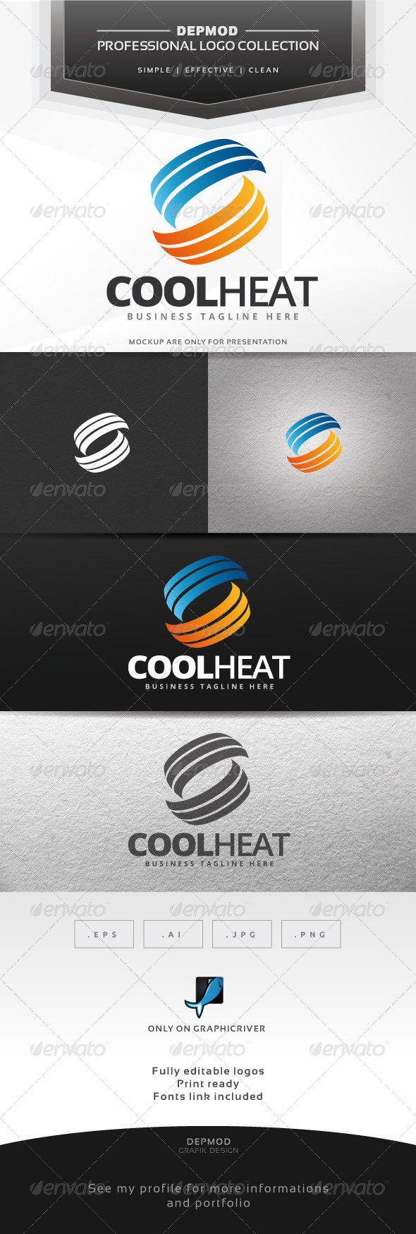 GraphicRiver Cool Heat Logo 7516557