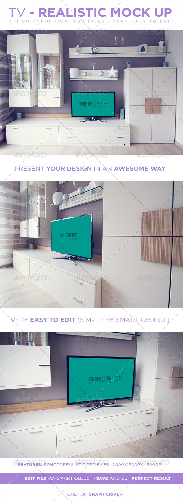 GraphicRiver TV Realistic Mock Up 7393484