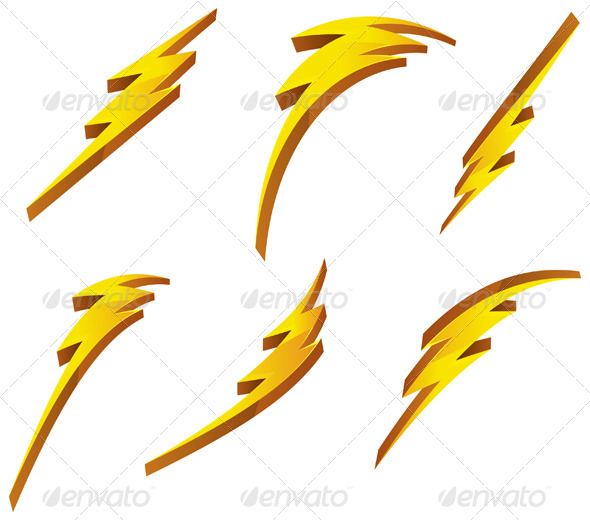 GraphicRiver Abstract Set of Lightening Bolts 7516593