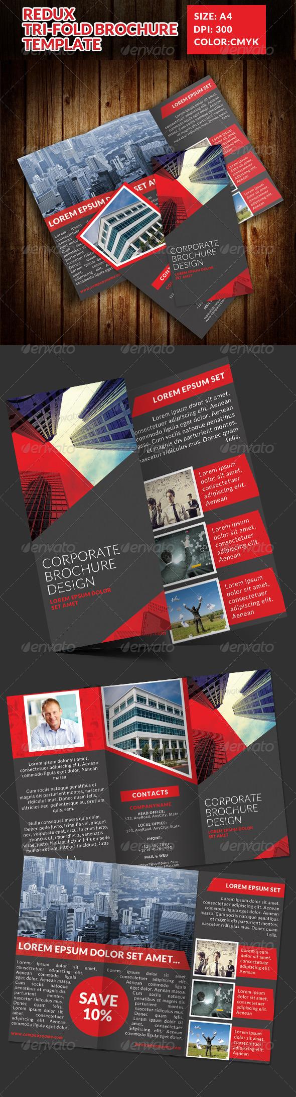 Redux Corporate Tri-Fold Brochure Template