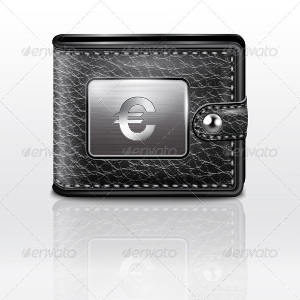 GraphicRiver Leather Wallet with Euro Sign 7516661