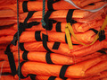 Pile of life-jackets ready for shipping. - PhotoDune Item for Sale