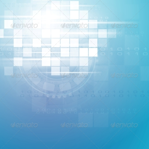 GraphicRiver Technology Blue Backdrop 7516762