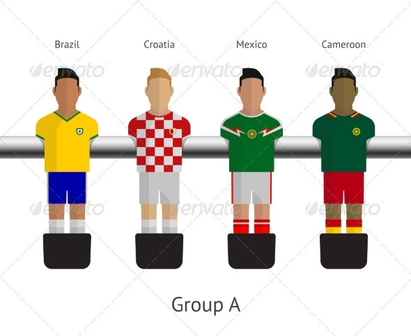 GraphicRiver Table Football Soccer Players Group A 7517070