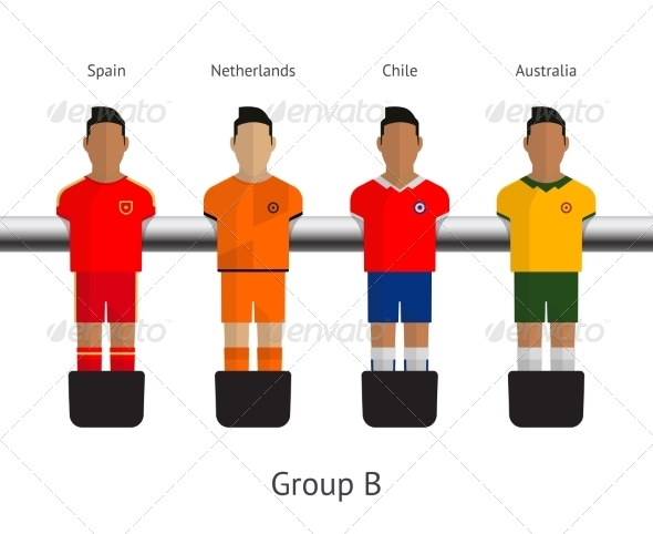 GraphicRiver Table Football Soccer Players Group B 7517071