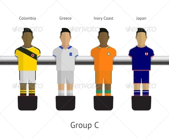 GraphicRiver Table Football Soccer Players Group C 7517074