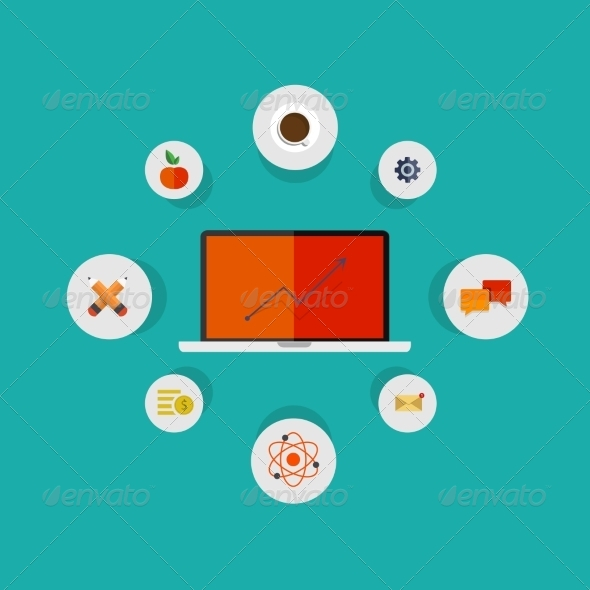 GraphicRiver Modern Flat Icons Set 7517129