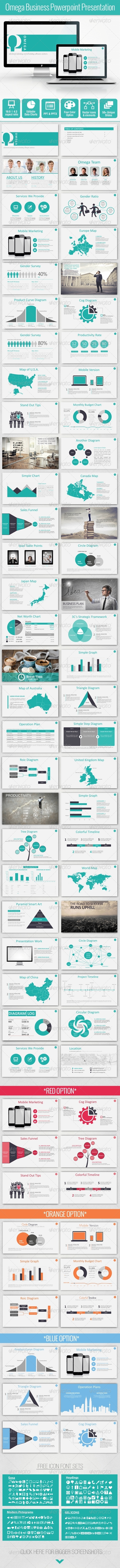 GraphicRiver Omega Bussiness Powerpoint Template 7517275