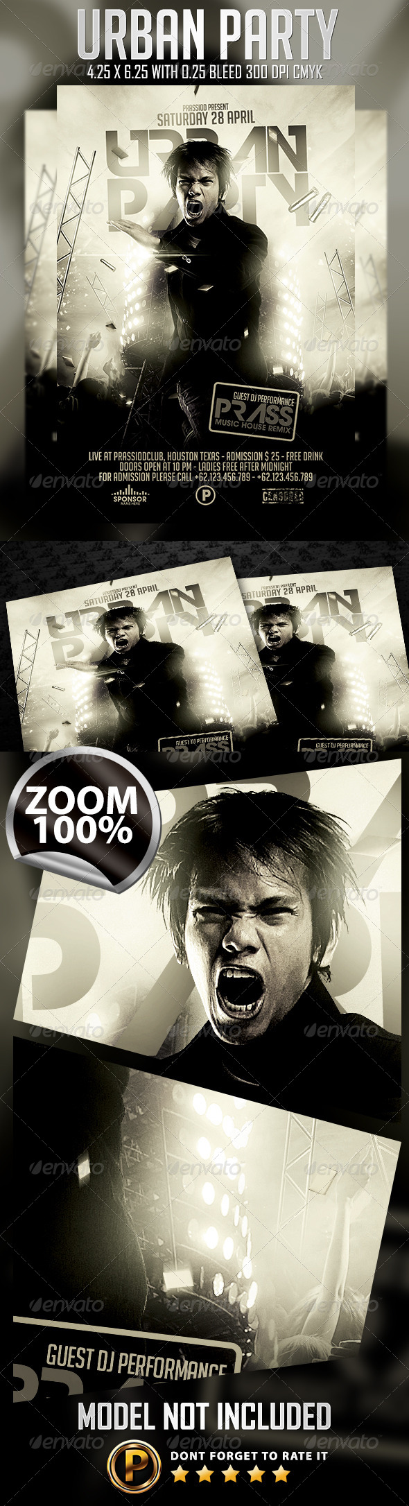 GraphicRiver Urban Party Flyer Template 7517308