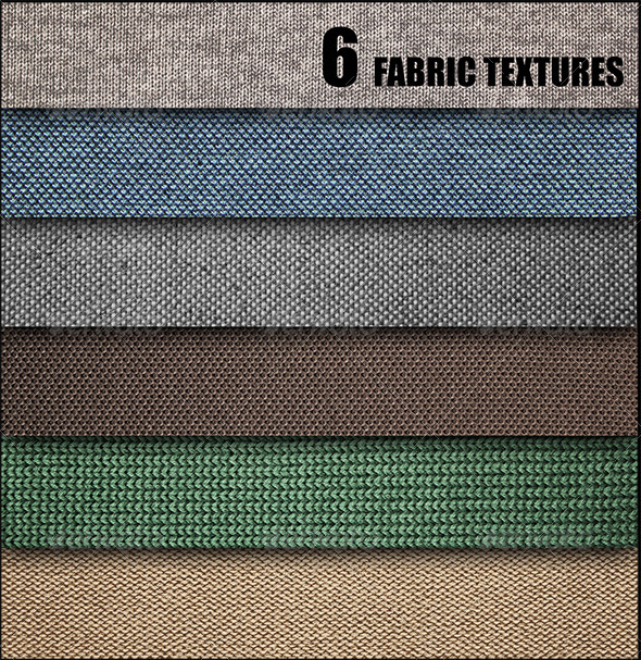 GraphicRiver 6 Fabric Textures 7517392