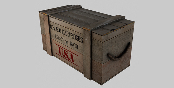 3DOcean Ammo Crate 7517395