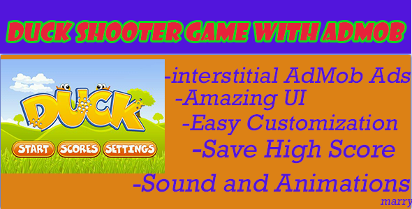 CodeCanyon Classic-Duck Shooter Game With Admob 7517397