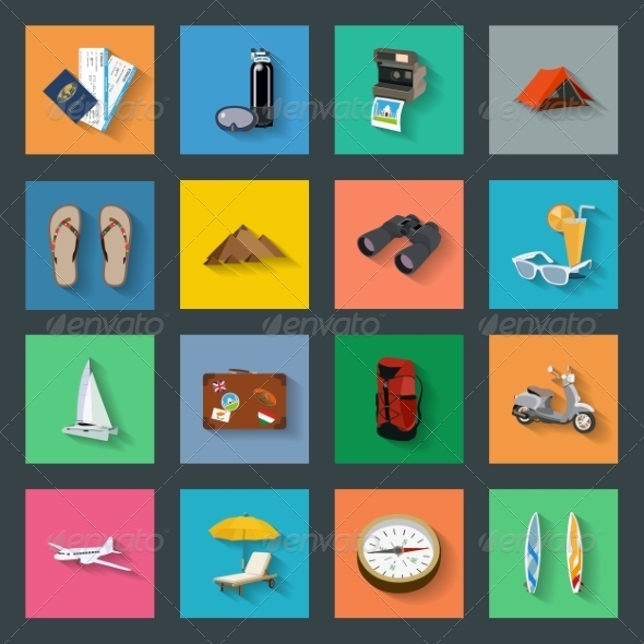 GraphicRiver Tourism Icons 7517806