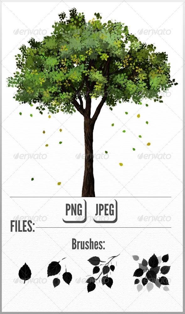 GraphicRiver Leaf Brush 7517814