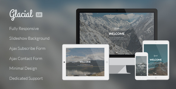 ThemeForest Glacial Responsive Under Construction Template 7485528