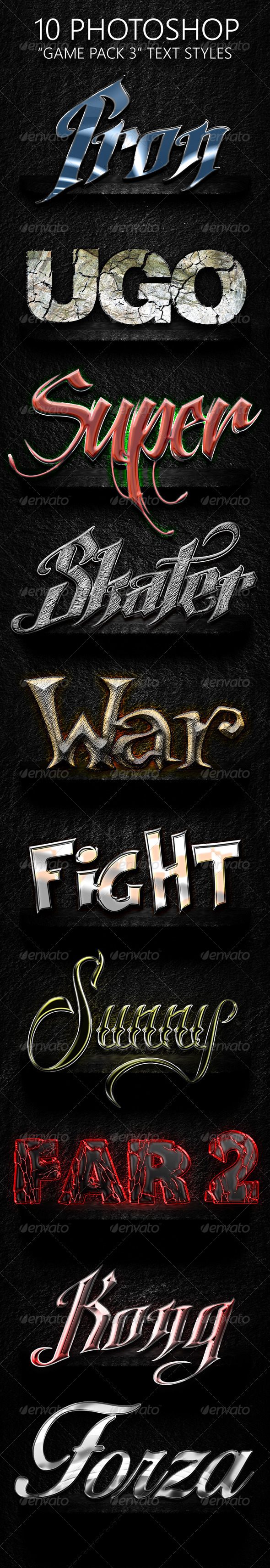 GraphicRiver Game Pack 03 Text Styles 7518103