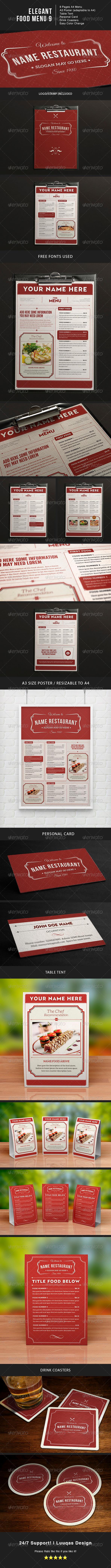 GraphicRiver Elegant Food Menu 9 7518108