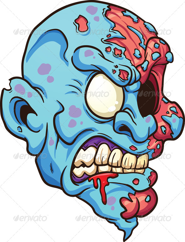 GraphicRiver Zombie Head 7518252