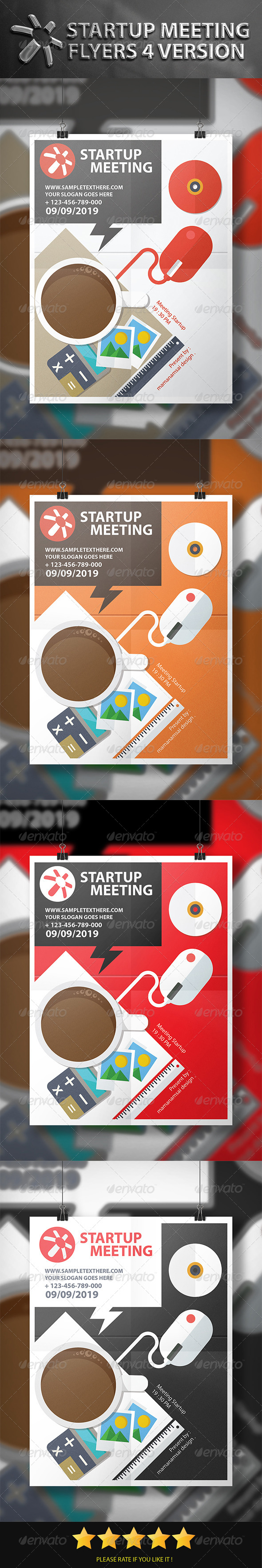 GraphicRiver 4 Startup Meeting Flyers 7518255