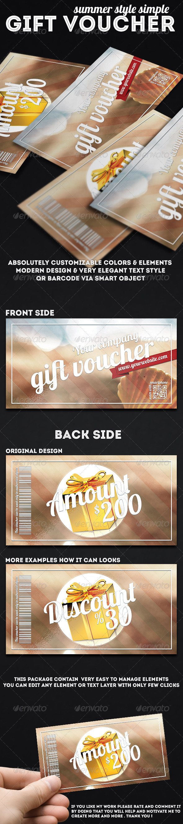 GraphicRiver Summer Style Gift Voucher 7518450