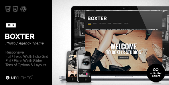 Boxter - Creative Responsive WordPress Theme - Creative WordPress