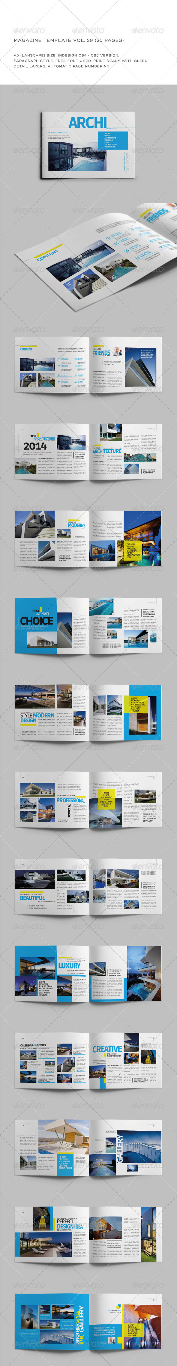 GraphicRiver A5 Landscape 25 Pages mgz Vol 29 7518652